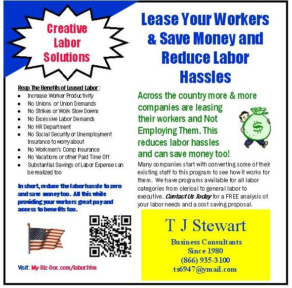 leased labor services will save you money